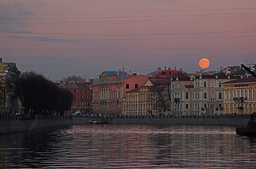 Зимние луны. Виды Петербурга. Фотографии Санкт-Петербурга