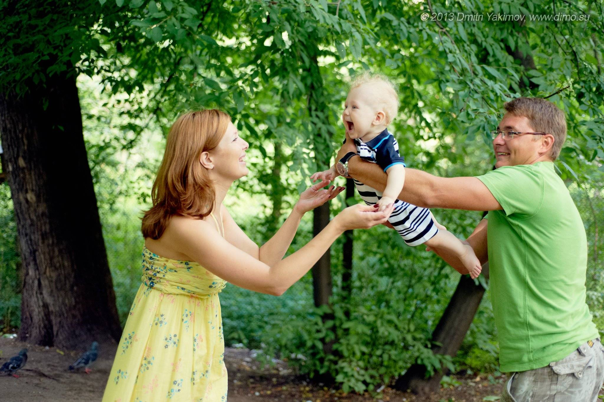Фото с годовалым ребенком на природе