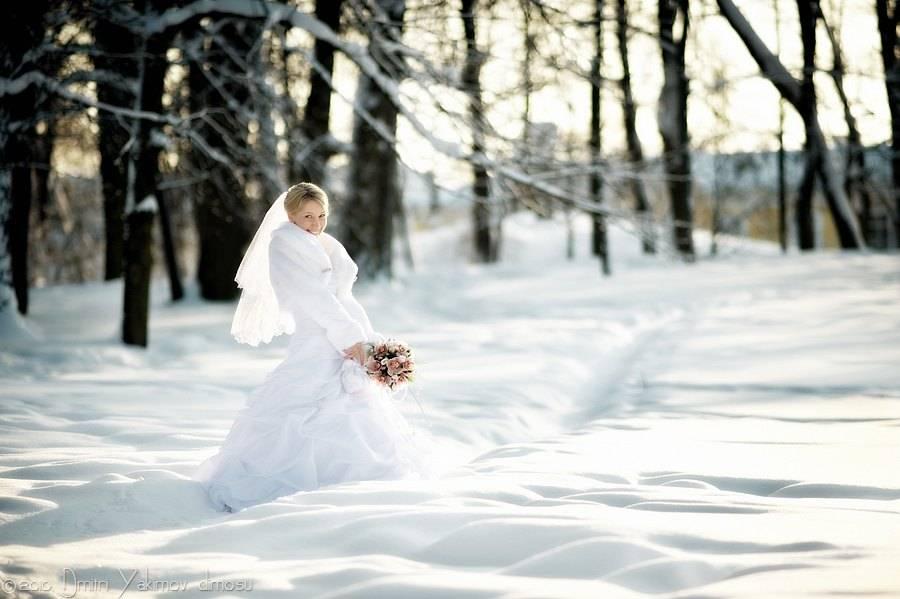 фотосъёмка свадьбы зимой