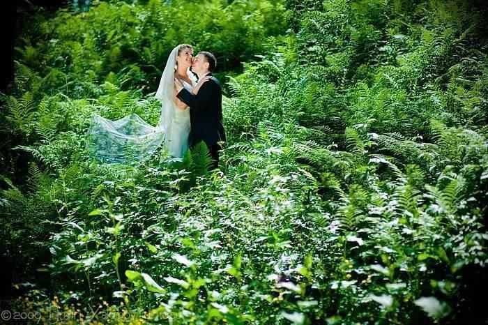 на свадьбе в лесу