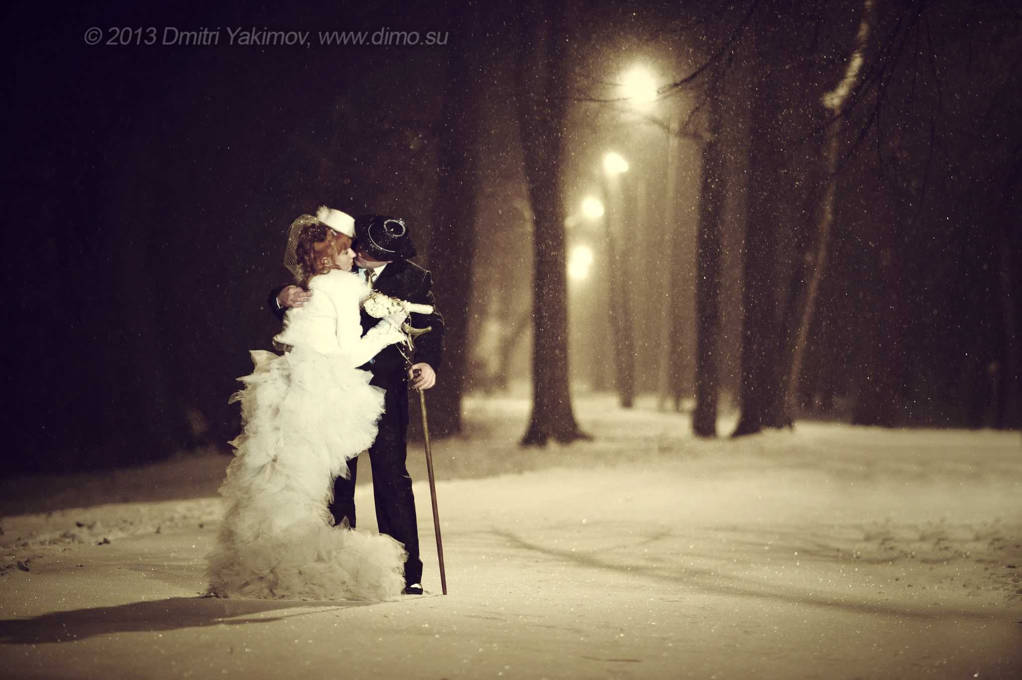 Сказка зимней свадебной фотосъёмки