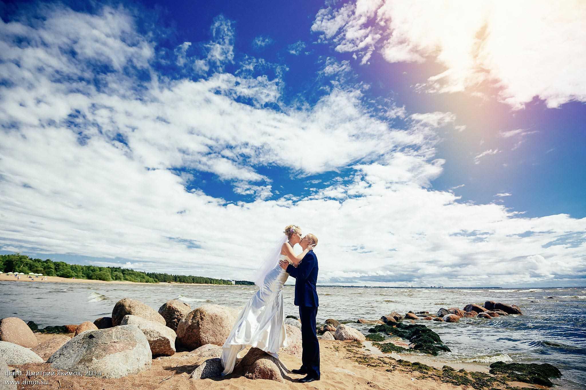 свадебные фото в летнюю жару